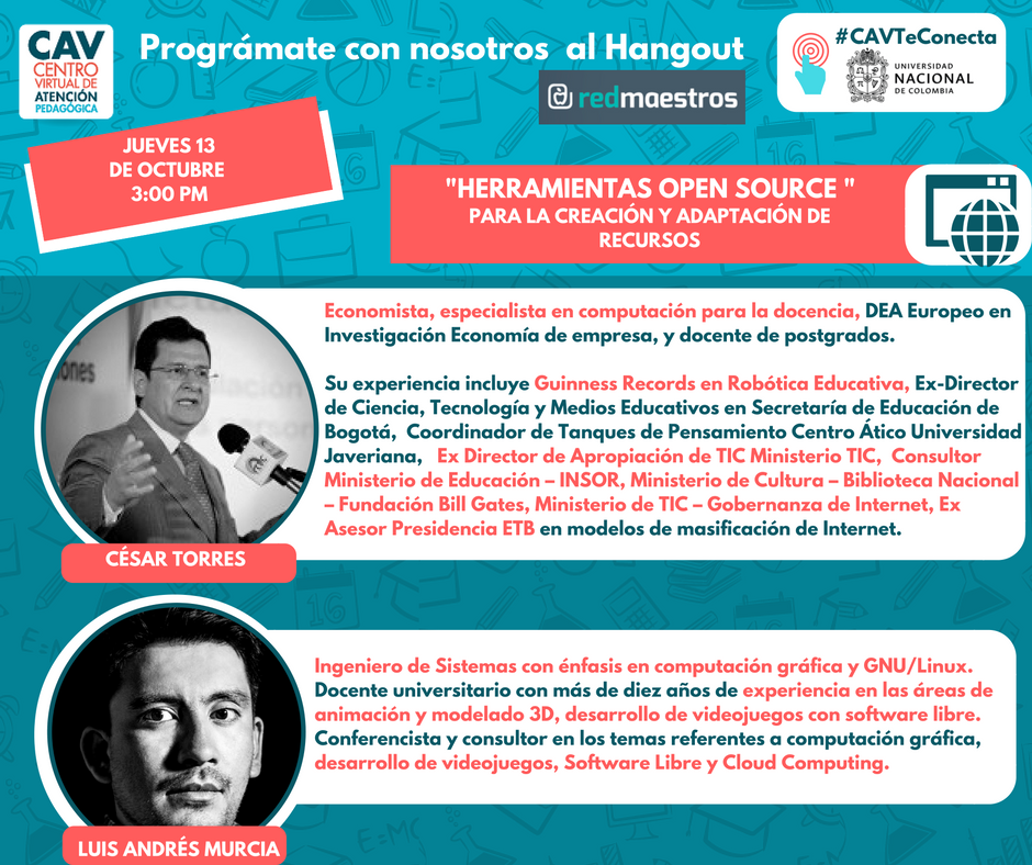 open source para la creacion de recursos hangout 07